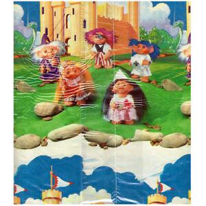 TREASURE TROLLS VINTAGE 1992 KINGDOM GIFT WRAP (2pc) ~ Birthday Party Supplies