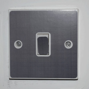 Silver Light Switch Sticker - Bedroom / Garage / Shed