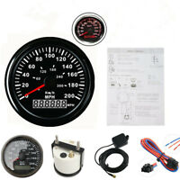Waterproof 85mm Round Car GPS GPS 200MPH 300KM/H Speedometer Gauge LED Backlight