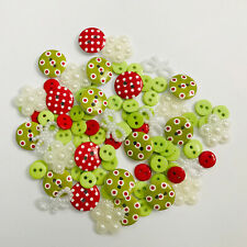 Christmas embellishments Wooden Resin Xmas Crafts Mix Buttons Pearl Bow Flowers