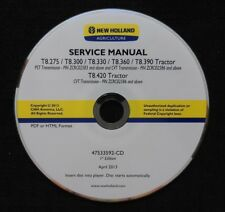 NEW HOLLAND T8.275 T8.300 T8.330 T8.360 T8.390 T8.420 TRACTOR REPAIR MANUAL CD