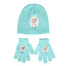 Childrens Disney Frozen MINT One Size Winter Hat & Gloves Warm Accessory Set