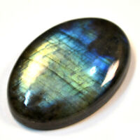 Cts. 43.55 Natural Labradorite Multi Fire Cabochon Oval Cab Loose Gemstone