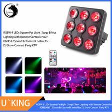 Square Par Light Stage Lighting 9 Led Rgbw 4In1 Dmx Strobe Party Club Dj Remote