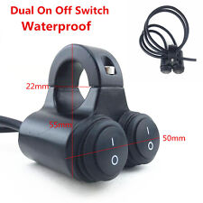 Dual 7/8'' Motorcycle Handlebar High Low Beam Headlight On Off Switch Waterproof