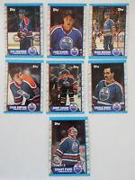 1989-90 Topps Edmonton Oilers Team Set of 7 Hockey Cards