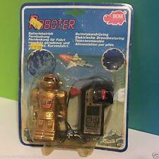 VINTAGE DICKIE ROBOTER REMOTE CONTROL ROBOT GOLD SUBOT GERMAN CARD MOC SEALED UK