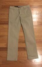 Underarmour School Uniform Khaki Tan Chino Girls Pants Size 8 Nwt Msrp $49.99