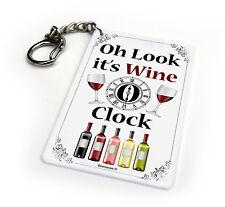 Wine O' Clock Funny Key Chain Keyring