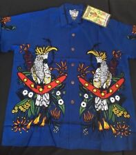 SURF  RARE MAMBO LOUD SHIRT Australian Hawaiian Kookaburra Blue Large