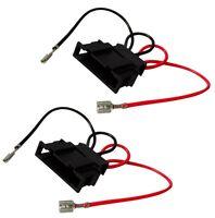 2 connecteurs adaptateurs de haut-parleurs enceintes auto pour VW Golf 4 Passat