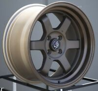 One 16x8 Rota GRID V 4x100 +20 Speed Bronze Wheel