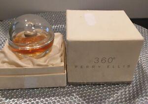 VTG Rare Perry Ellis 360 PURE PERFUME 10 Ml Glass Bottle With Stopper Splash
