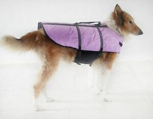 LARGE DOG BREED: L-SM  LILAC DOG LIFE PRESERVER LIFE JACKETS