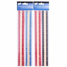Just Stationery 12 inch Wooden Ruler (Pack of 2) ideal for school office etc