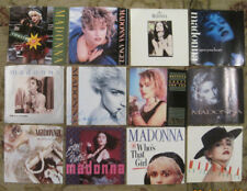 HUGE LOT of 12 MADONNA 45rpm Picture Sleeves (only - NO 45s)