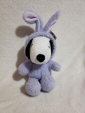 Hallmark Peanuts Plush Snoopy in Purple Easter Bunny Costume. 10 inch