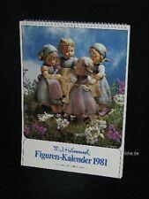 """Goebel Hummel Kalender Calendar 1981, Titelbild """"Ringelreihe"""""""