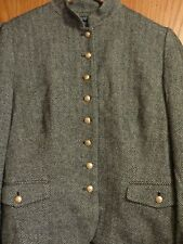 NWT Chaps women's XL nice button and collar black cream wool bld coat jacket