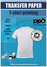 PPD A4 T Shirt Transfer Paper X 10 Sheets Only