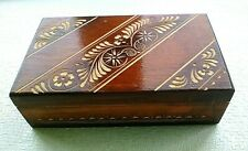 Vintage USSR Handcrafted Wooden Box Small Stuff Valuable Wood Сarving