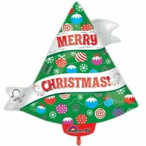 """Christmas Tree Super Shape Helium Foil Balloon Party Pink  21"""""""