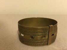 Antique Victorian Goldide Adjustable Belt Bracelet Cuff