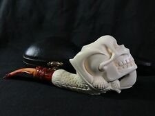Meerschaum Pipe Dragon Claw Holding Skull