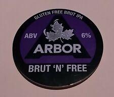 ARBOR BREWERY BRUT 'N' FREE GLUTEN FREE ALE BEER PUMP HANDLE CLIP BADGE 6 % ABV