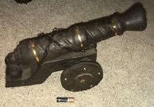Awesome Old One of A Kind Hand Carved Wooden Cannon, Made in Spain(Norleans)