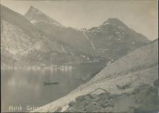Norvège, Merok, Geiranger Fjord Vintage silver print,  Tirage argentique
