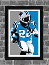 Carolina Panthers Christian McCaffrey Sports Print Art 11x17