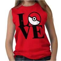 Love Go Geek Funny Cute Team Master Trainer Womens Sleeveless Crewneck T Shirt