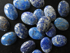 Cabochon Gemstone Blue Lapis Grade B/C  18x25 mm  (Qty 6)