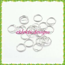 7mm 100pcs Silver Plated Jump Rings Jewelry Findings Open Split Earring Necklace