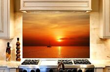 Printed Kitchen Glass Cooker Splashback / Lounge Photo 'Sunset7'  900x600mm
