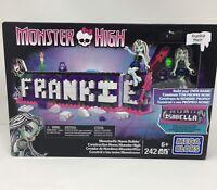 Monster High Frankie Stein Doll New in Box 242 pieces Mega Bloks Isabella