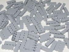 Lego Lot of 100 New Light Bluish Gray Bricks 1 x 4 Dot Building Blocks Pieces