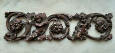 More details for french shabby chic cherub angel gilt wood carving louis style chateau