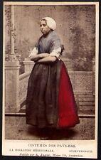 Costumes des Pays-Bas Hollande Méridionale Scheveningue. A. Jager CDV Vers 1880
