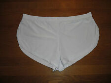 "Mens Med 30""-32"" Sexy White Brushed Soft Nylon Split Side Shorts Lingerie Gay UK"