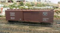 Train Miniature HO Burlington 40' DS Wood Boxcar, Upgraded,  Ex
