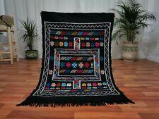 Moroccan minute Handmade wool carpet 3'x4'7 Berber Nomad Sahara pagan wool Rug 4