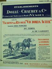 catalogue machines agricoles dollé chaubey vesoul faucheuse moissoneuse 1910