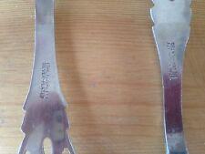 "vintage 9 1/4"" server/serving set,fork/pierced spoon,Italy,silver plate"