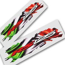 APRILIA RS 125 Pegatinas de gráficos de estilo italiano Rasgado Bandera calcomanías X 2