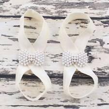 Elastic Girls Infant Imitation Pearl Bow Barefoot Beach Sandals Baby Foot Good