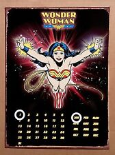DC Comics Wonder Woman Black - Tin Metal Perpetual Calendar