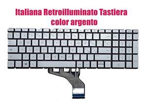 IT Retroilluminato Argento Tastiera per HP 15-DA/15-DB/15-DR/15-DU/15-DW/250 G7