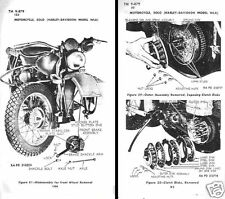 HARLEY DAVIDSON WLA MILITARY MOTORCYCLE WW2  period archive manual